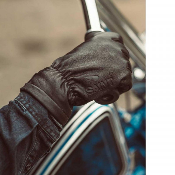 Saint-Moto Leather gloves with spectra lining - Black